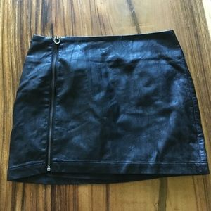 Pleather mini skirt